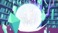 Starlight exploding her magic shield S6E21