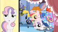 Apple Bloom and Sweetie Belle stick their heads out S3E4.png