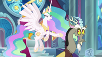 "Celestia ""anything else you'd like to tell us?!"" S9E24"