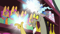 Discord poofing the napkins away S7E12