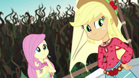 Fluttershy and AJ ready to save the day EG4