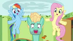 Fluttershy and Rainbow support Zephyr through song S6E11