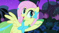 Fluttershy listens to the bird singing S1E26