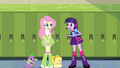 Fluttershy tells Twilight about the crown EG.png