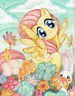 IDW Publishing Fluttershy sketch card by Sara Richard