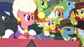 Judge ponies listening to Scootaloo S5E6.png