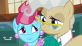 Mrs. Cake and Mayor Mare looking distressed S7E13.png