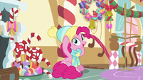 Pinkie Pie puts on her winter gear MLPBGE