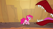 Pinkie trotting through a dream volcano S5E13