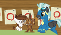 Pip and Thunderlane make Twilight's castle out of popsicle sticks S7E21.png