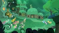 Ponies see 'Rarity', 'Rainbow Dash', and 'Applejack' S5E26