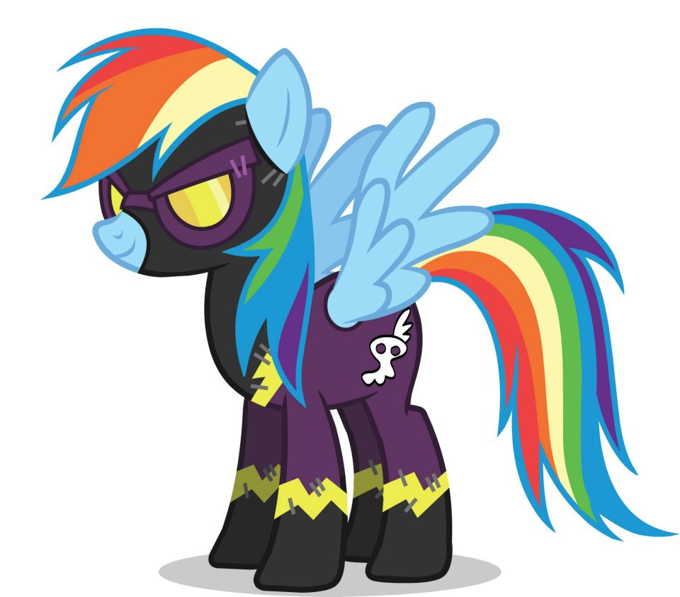 promotional facebook halloween 2011 rainbow dash shadowboltjpg