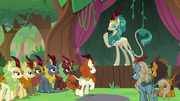 Rain Shine addressing Autumn Blaze S8E23