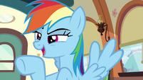 Rainbow --the victorious Ponyville buckball team!-- S6E18
