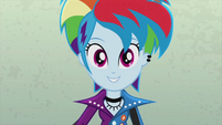 Rainbow Dash dressed like a rock star EG2