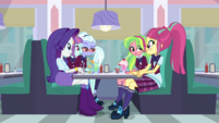 Rarity and Shadowbolts look at Sour Sweet EGS1