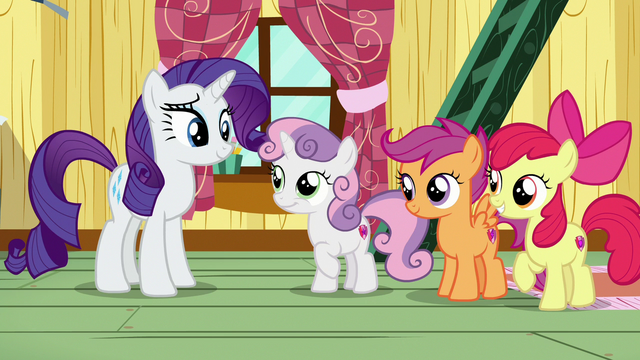 File:Rarity and Sweetie Belle smile at each other S7E6.png
