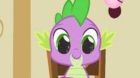 Spike's eyes sparkling S1E25