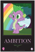 """Spike """"Ambition"""" poster from ComicCon 2012"""