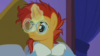 Sunburst putting his glasses on again S7E24