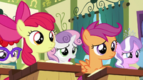 Sweetie Belle --sounds a bit over our heads-- S6E14