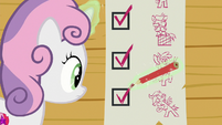 Sweetie Belle checks off more checkboxes S8E12
