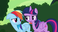 "Twilight and Rainbow ""she might need it anyway"" S4E04"