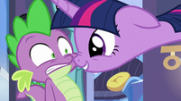 Twilight delighted that Spike has a pen pal S6E16