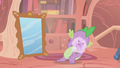 Twilight removes Spike's mustache S1E06.png