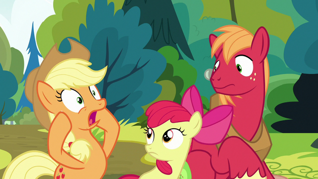 "File:Applejack ""our mother was a... Pear?!"" S7E13.png"
