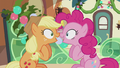 "Applejack and Pinkie ""I was gonna say that!"" S5E20.png"