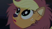 Applejack with wide eyes S5E21