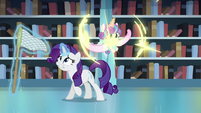 Flurry Heart teleports behind Rarity S6E2