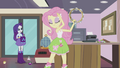 Fluttershy playing tambourine EG2.png