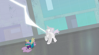 Henchpony being shocked by lightning S4E06