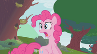 Pinkie Pie calling out to her friends S1E10