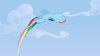 Rainbow flies circularly in the air S3E7