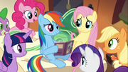 Rainbow reads to her friends S4E22