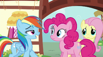 "Rainbow reveals to Pinkie ""Zephyr Breeze"" S6E11"