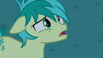 Sandbar confused by Apple Bloom's rhetorical S8E25