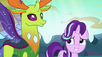 Thorax standing next to Starlight Glimmer S6E26