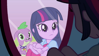 Twilight and Spike in the mirror EG
