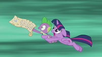 Twilight and Spike traveling through time S5E25