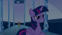 Twilight annoyed by Sunset's teleport EG