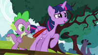 Twilight asks about the snake joke S5E22