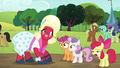 Apple Bloom sighs; Big Mac smiles S5E17.png
