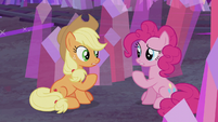 Applejack and Pinkie -I came here to think- S5E20