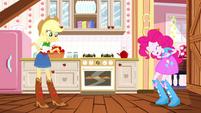 Applejack telling a story to Pinkie Pie SS14