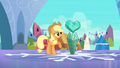 Applejack with fake Crystal Heart S3E1.png