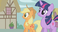 Applejack worried about Sweet Apple Acres S1E10